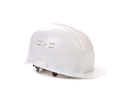 Blue hard hat isolated on a white background