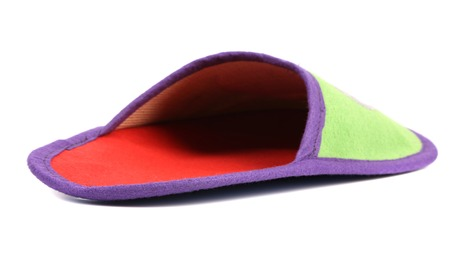 House slipper. Isolated on a white background. photo