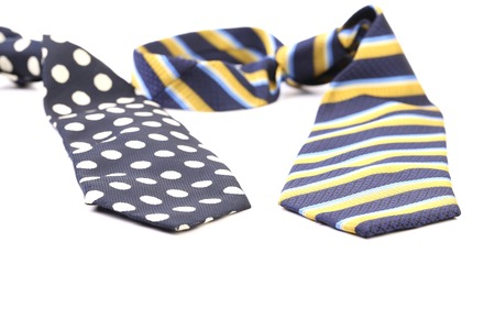 Two elegant ties. Isolated on a white background. photo