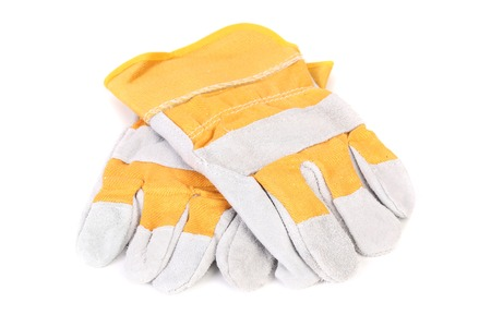 Construction gloves. Isolated on a white background.