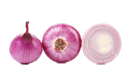 Red onions. Isolated on a white background photo
