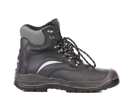 Black man's boot. Isolated on a white background. Stock Photo - 22345586