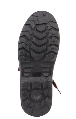 Black shoe sole. Isolated on white background. Stock Photo - 22345589