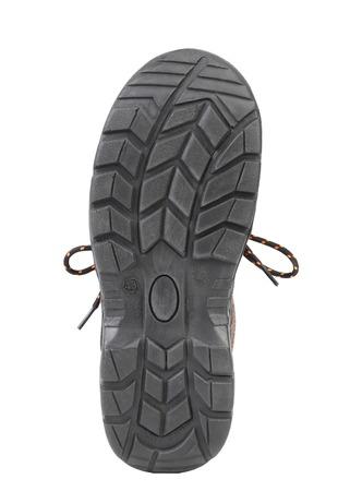 Black shoe sole. Isolated on white background. Stock Photo - 22345448