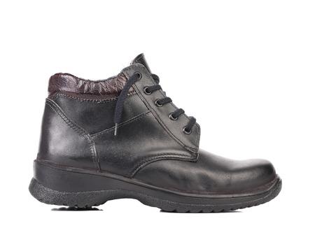 Man's black shoe. Isolated on white background. Stock Photo - 22345451