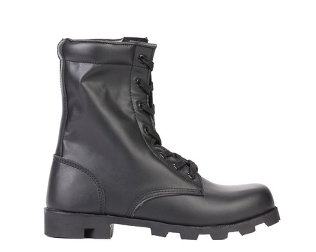 Black man's boot. Side view. Isolated on a white background. Stock Photo - 22345472