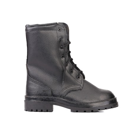 Black man's boot. Isolated on a white background. Stock Photo - 22345405