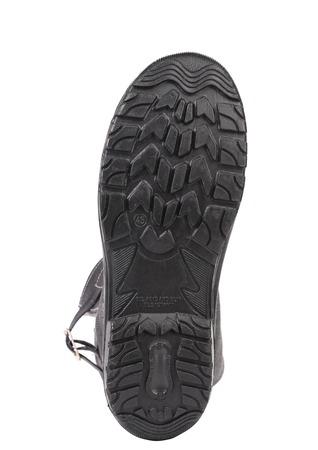 Black shoe sole. Isolated on white background. Stock Photo - 22345413