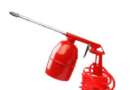 airbrushing: Red pistola. Aislado sobre fondo blanco.