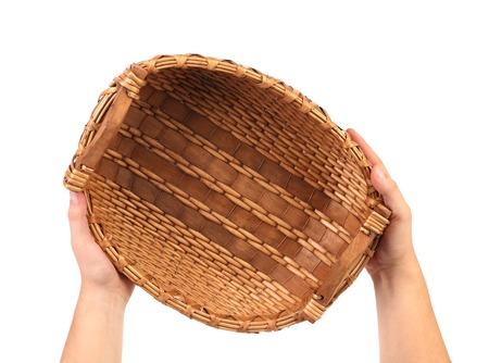 cepelia: Hand holds vintage weave wicker basket