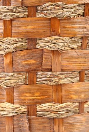 vintage weave wicker basket. photo