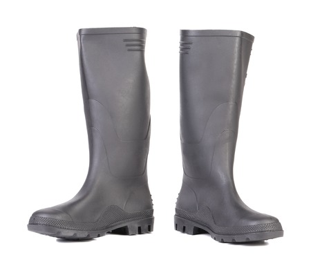High rubber boots black color.  Stock Photo - 22461491