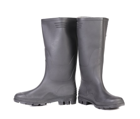 High rubber boots black color. Stock Photo - 22477214