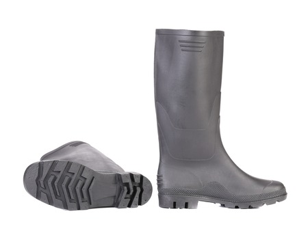 High rubber boots black color. Stock Photo - 22461493