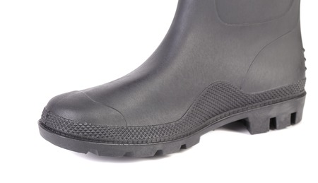 Closeup of rubber boot black color.  Stock Photo - 22477215