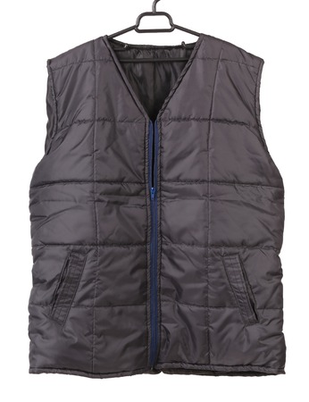 vest in isolated: Working winter vest. Isolated on white background.