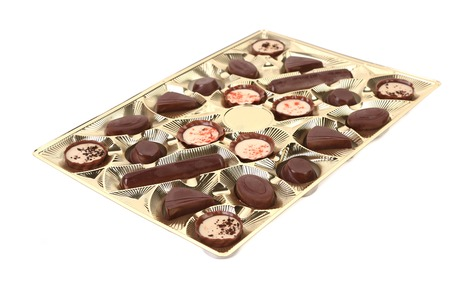 Box of chocolates candies  photo