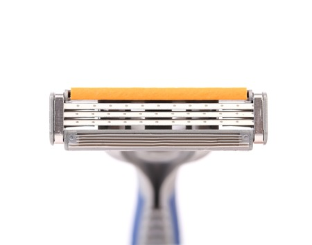 Effective area of shaving razor. Isolated on a white background photo