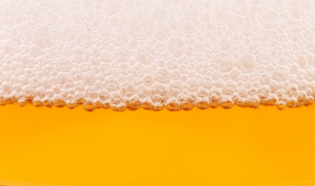 Closeup of beer and foam. Whole background. photo