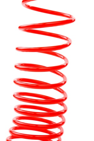 pascal: Red air hose on the white background Stock Photo