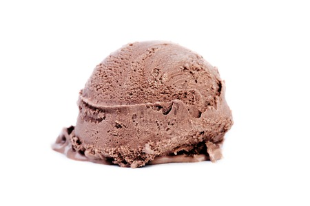 ice cream scoop: Chocolate Ice Cream Scoop on white background Stock Photo