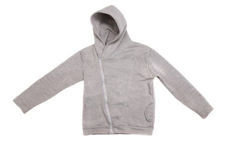 Hooded sweater isolated on a white background photo