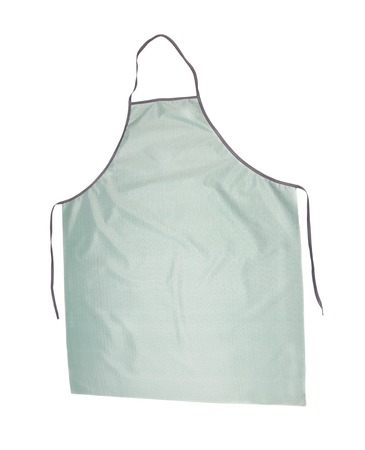 ruche: Grey long apron. Isolated on a white background
