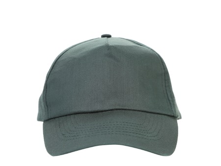 Close up of working peaked cap. Isolated on a white background. photo