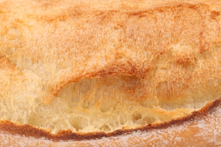 crackling: Crackling white bread. Close up. Whole background