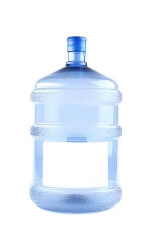 Venti littles plastica di acqua può. Isolato su uno sfondo bianco.