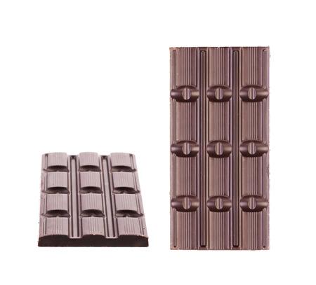 Two dark chocolate bars  photo