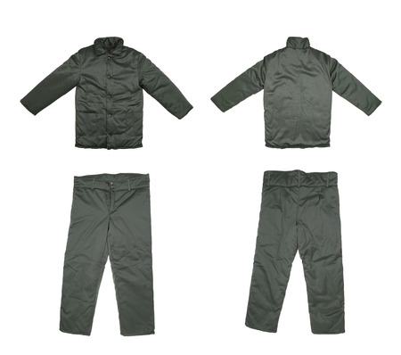 Pair of green work wear  photo