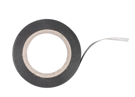Close up of insulating tape. Isolated on a white background Stock Photo