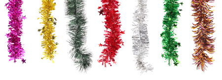 Christmas decoration in row. Isolated on a white background. photo