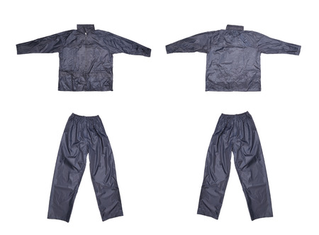 Pair of blue work wear. Isolated on a white background.