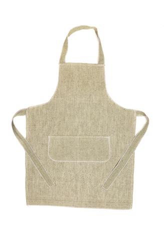 Cucina grigio grembiule. Isolato su uno sfondo bianco. Archivio Fotografico