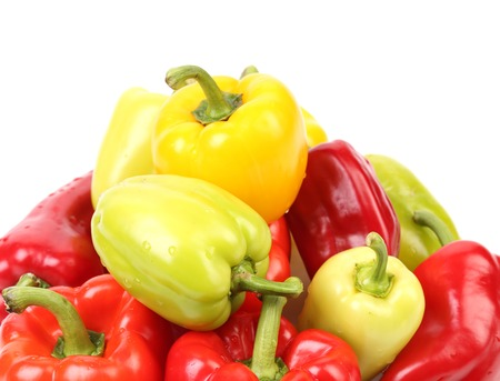 Multi colour peppers.  photo
