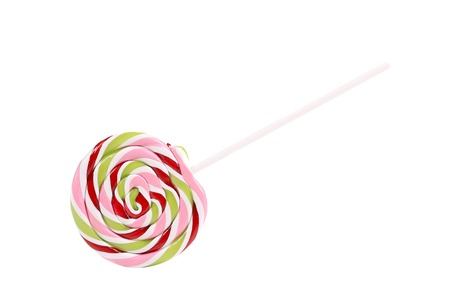 lolipop: Close up of lolipop candy. Isolated on a white .