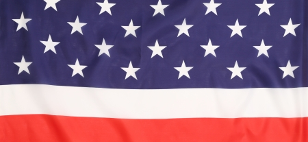 Close up of american flag. Whole background. photo