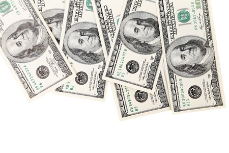hundred dollar bill: Hundred Dollar Bills. Close up. Whole background. Place for text. Stock Photo