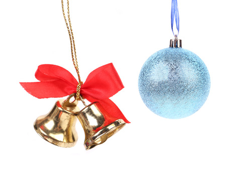 Christmas bell and ball decoration  photo