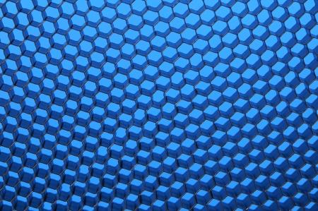 Close up of black net. Blue light. Whole background.