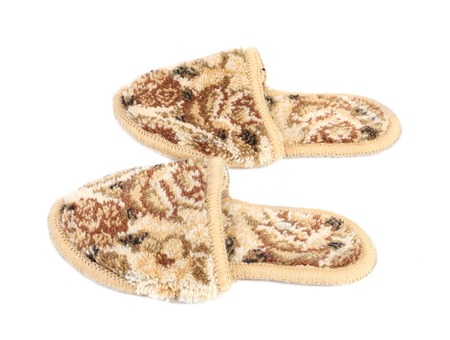 Pair of slippers. Isolated on a white background. photo