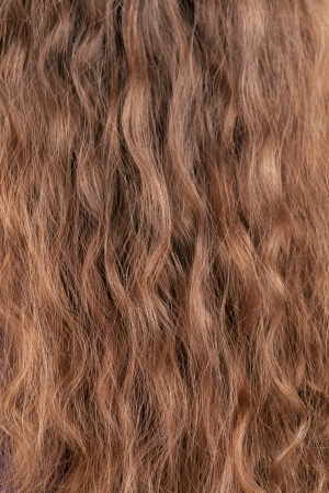 uncombed: Texture of long blond hair. Whole background.