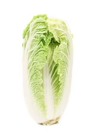Sliced tasty chinese cabbage. Isolated on a white background. photo