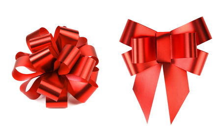 Two big red bows  photo
