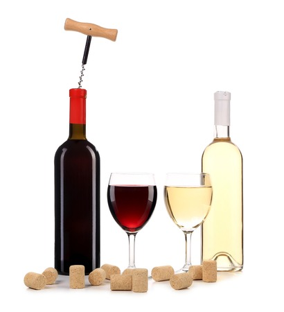 Rojo vino y la composici�n blanco. photo