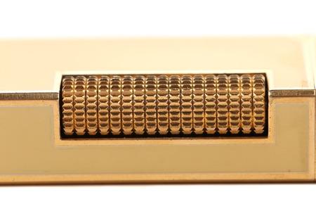 lighter gas: Metal pedernal de oro en el gas m�s ligero. Foto de archivo