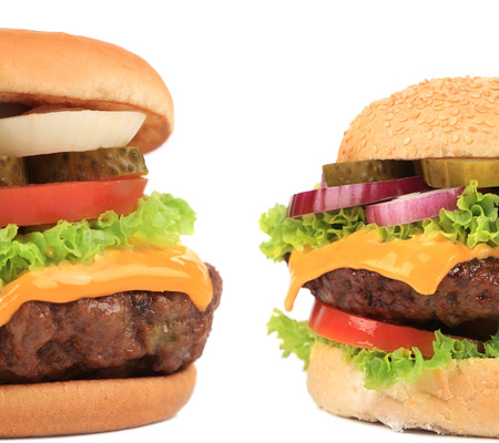 Two pieces of appetizing hamburger  photo