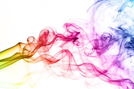 Colorful smoke clouds close up. Whole background. photo